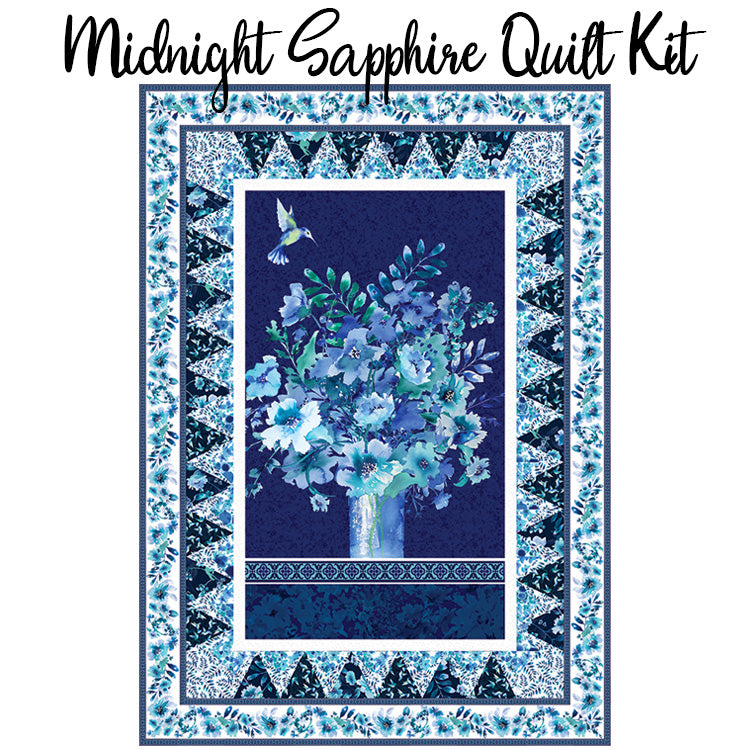 Midnight Sapphire Quilt Kit with Midnight Sapphire from Henry Glass