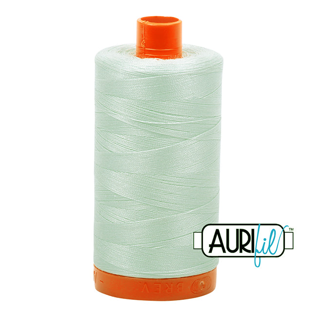 Aurifil Cotton Mako Thread Mint Ice 50wt MK50-2800