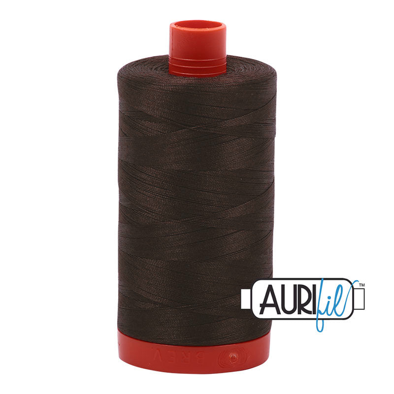 Aurifil Cotton Mako Thread Dark Brown 50wt MK50-5024