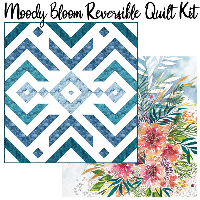 Moody Bloom Reversible Quilt Kit with Moody Bloom Bedding Panel from Moda