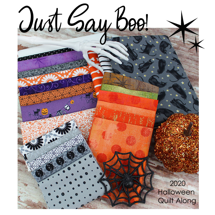 2020 Just Say Boo! Mystery Quilt Kit from Fort Worth Fabric Studio