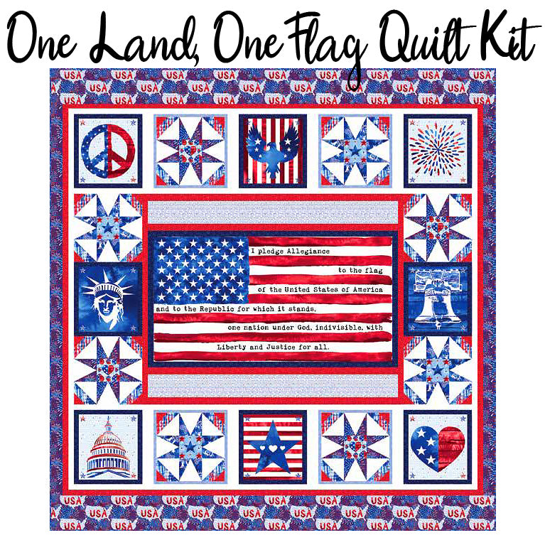 One Land One Flag Quilt Kit from Blank Quilting