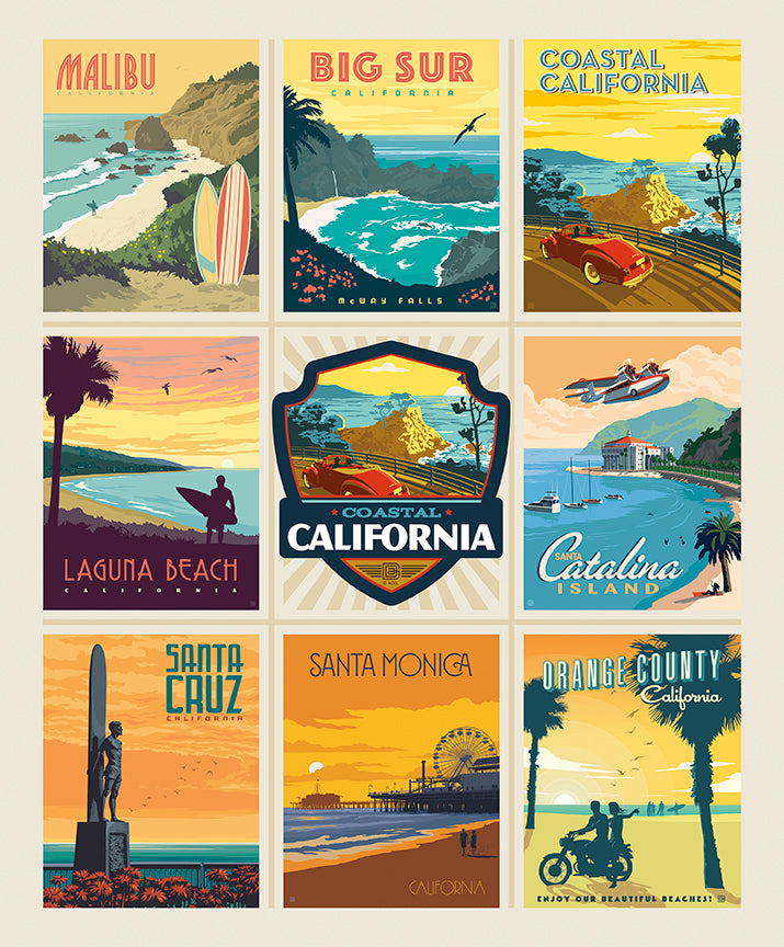 "Destinations 36"" California Beaches Poster Panel"