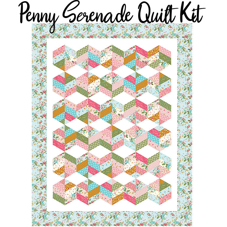 Penny Serenade Quilt Kit with Stardust fabric by Riley Blake