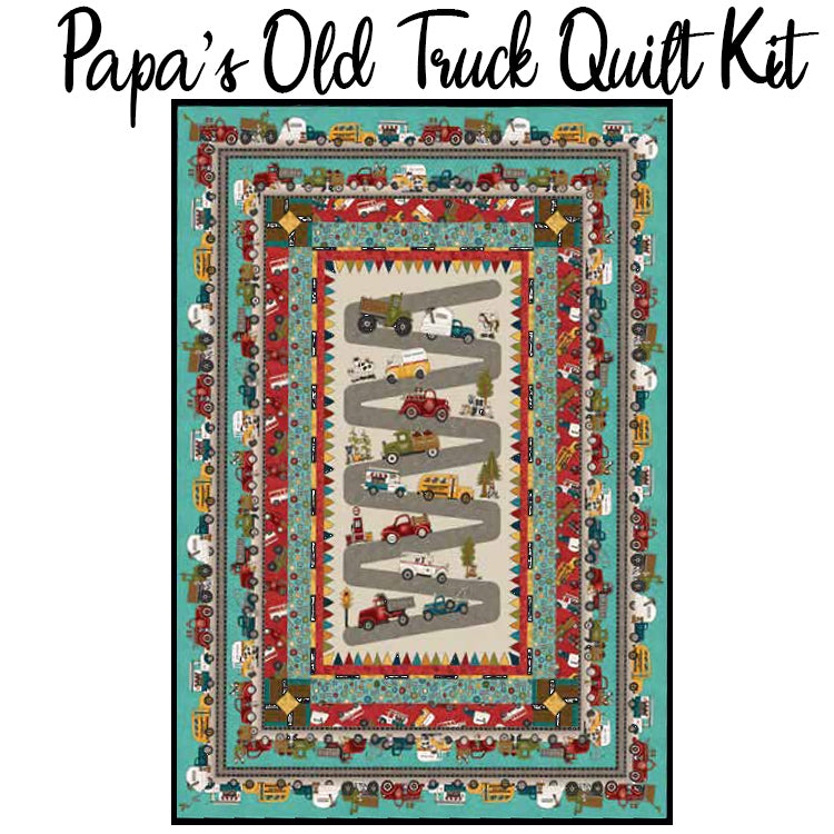 Papa's Old Truck Quilt Kit from Henry Glass