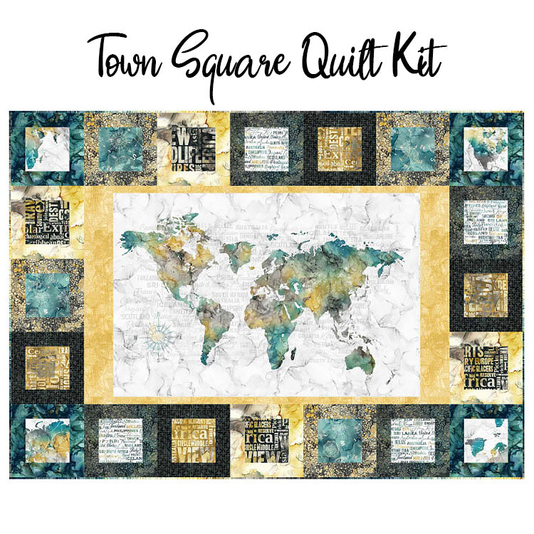 Town Square Quilt Kit with Journey from Northcott