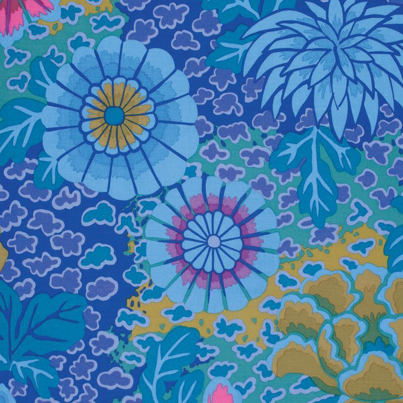 Kaffe Fassett Collective Succulent Dream Blue