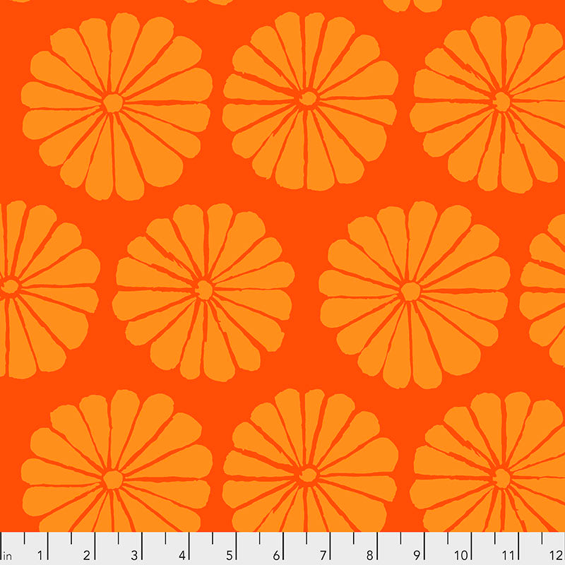 Kaffe Fassett Collective Damask Flower Orange