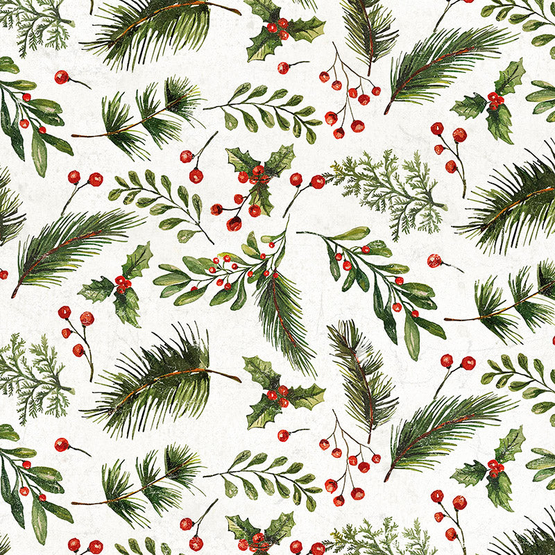 Yuletide Festive Greens White