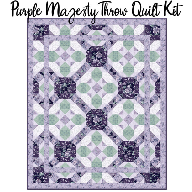 Purple Majesty Throw Quilt Kit from Wilmington