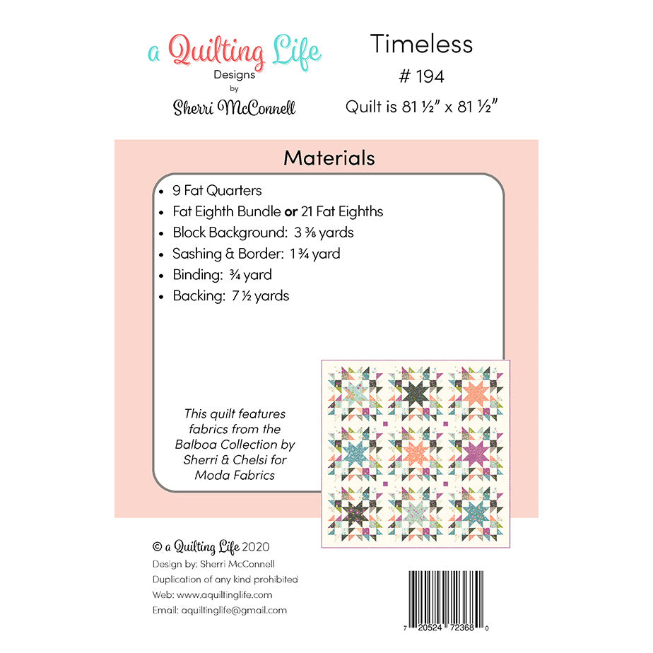 Timeless Quilt Pattern from A Quilting Life Designs
