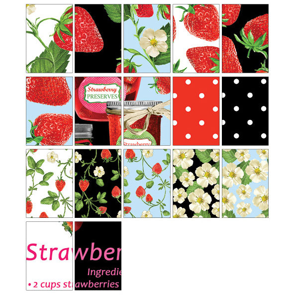 "Strawberry Fields Forever 10"" Squares from Kanvas"