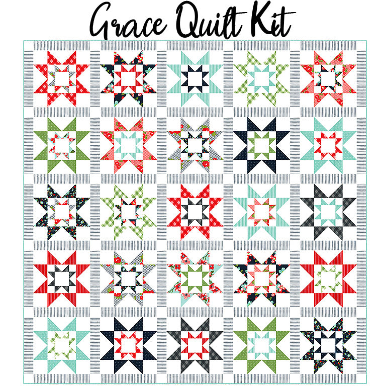 Grace Quilt Kit with Sunday Stroll fabric from Moda