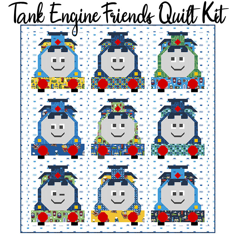 Tank Engine Friends Quilt Kit from Riley Blake