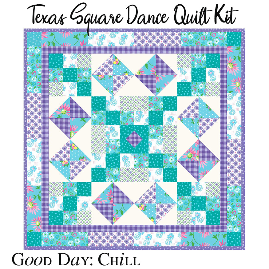 Texas Square Dance Chill Quilt Kit with Backing
