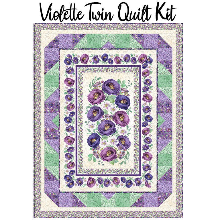 Violette Twin Quilt Kit from Wilmington