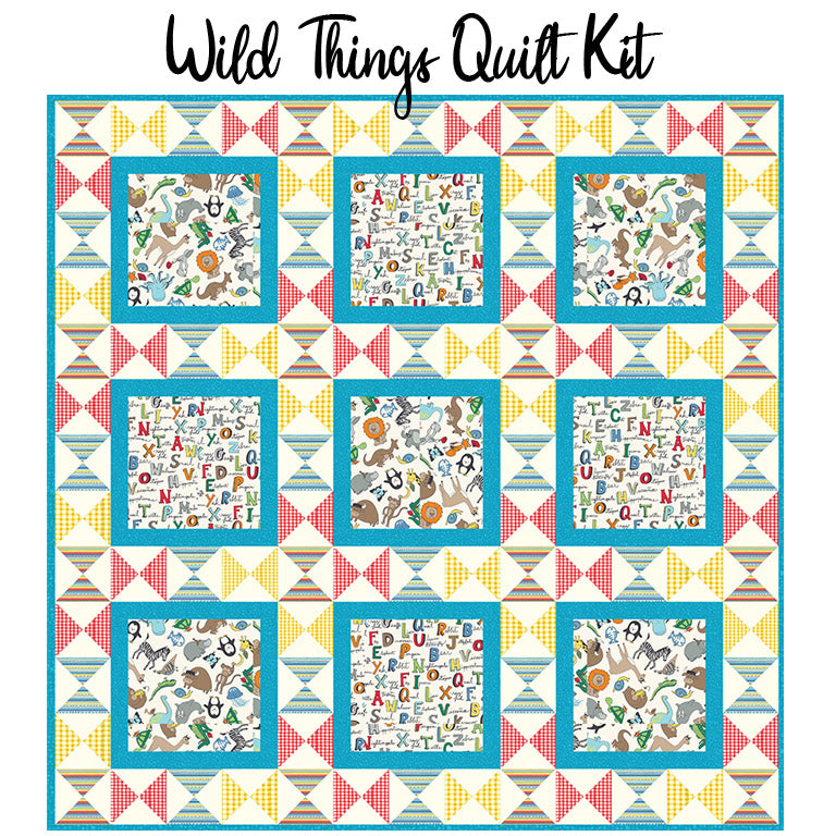 Wild Things Quilt Kit from Windham