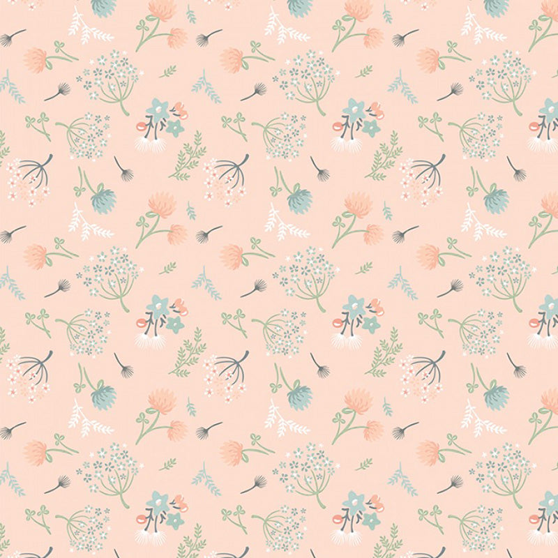 Woodland Songbirds Woodland Floral Peach