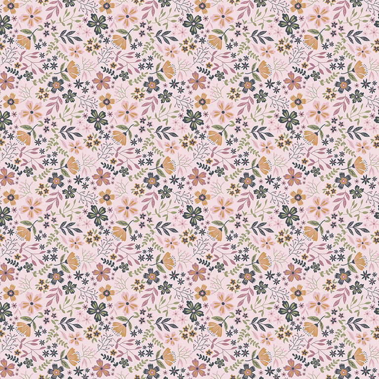 Gingham Farmhouse Gingham Flowers Basic