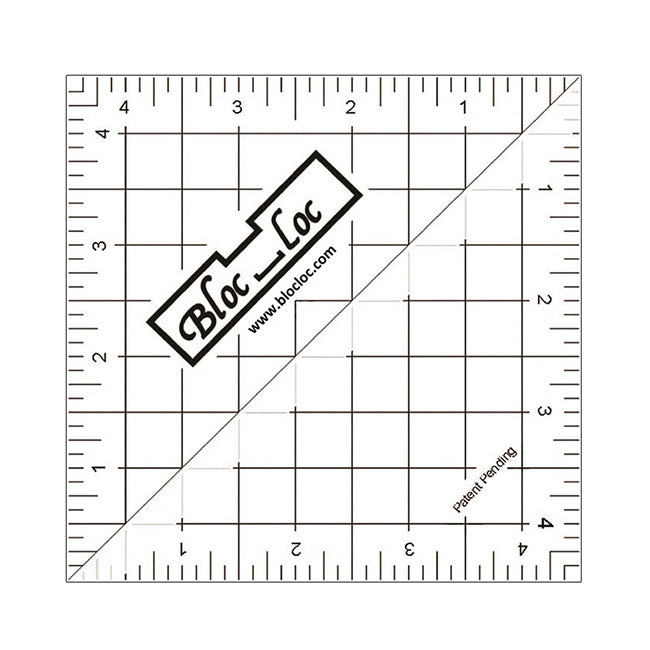 Bloc Loc Half Square Triangle Ruler 4.5""
