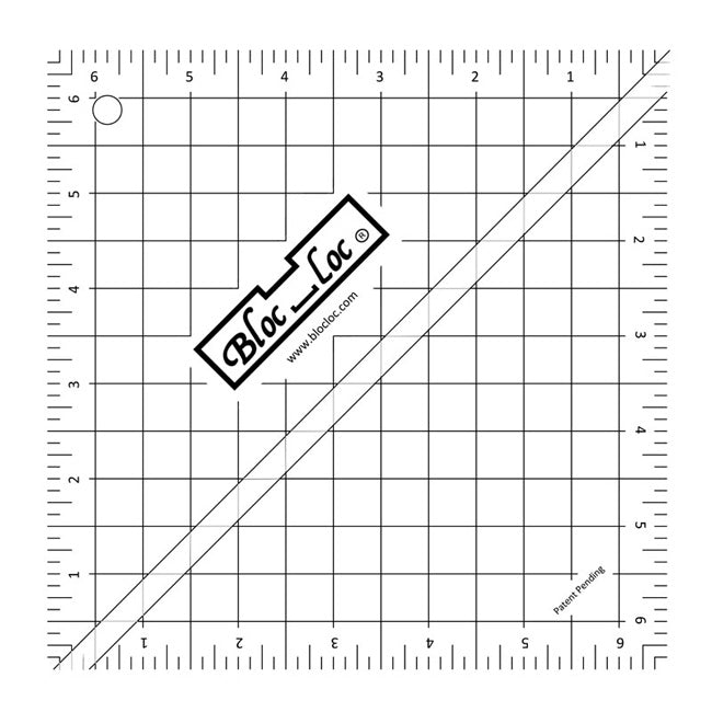 Bloc Loc Half Square Triangle Ruler 6.5""