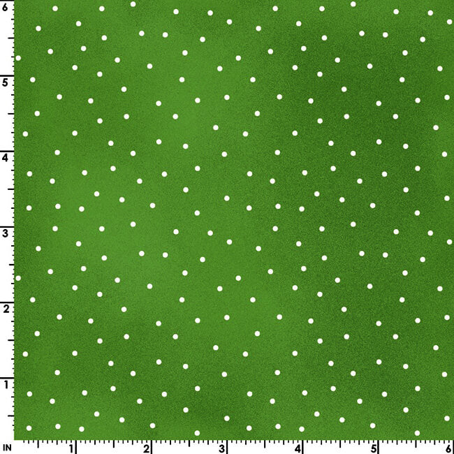 Beautiful Basics Scattered Dot on Spring Green