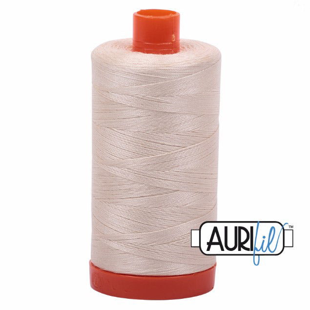 Aurifil Cotton Mako Thread Light Sand 50wt MK50-2000