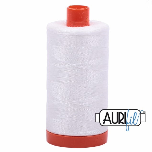 Aurifil Cotton Mako Thread Natural White 50wt MK50-2021