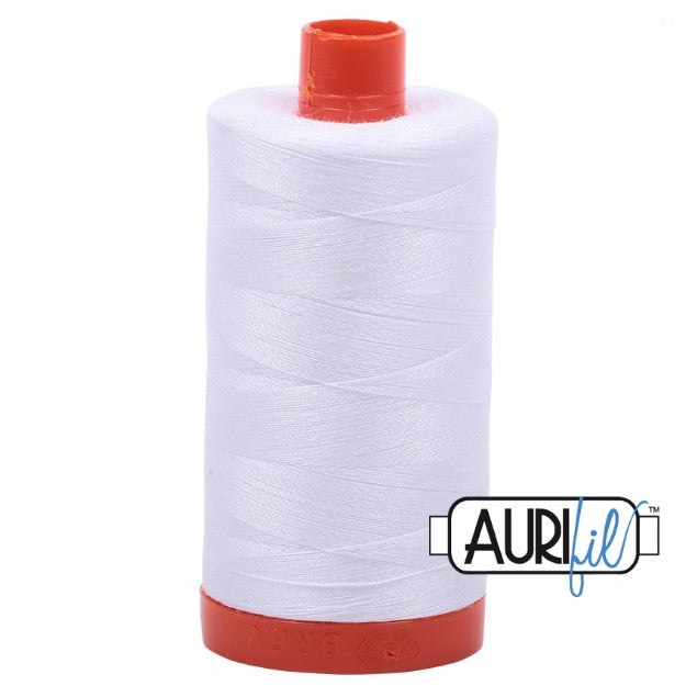 Aurifil Cotton Mako Thread White 50wt MK50-2024