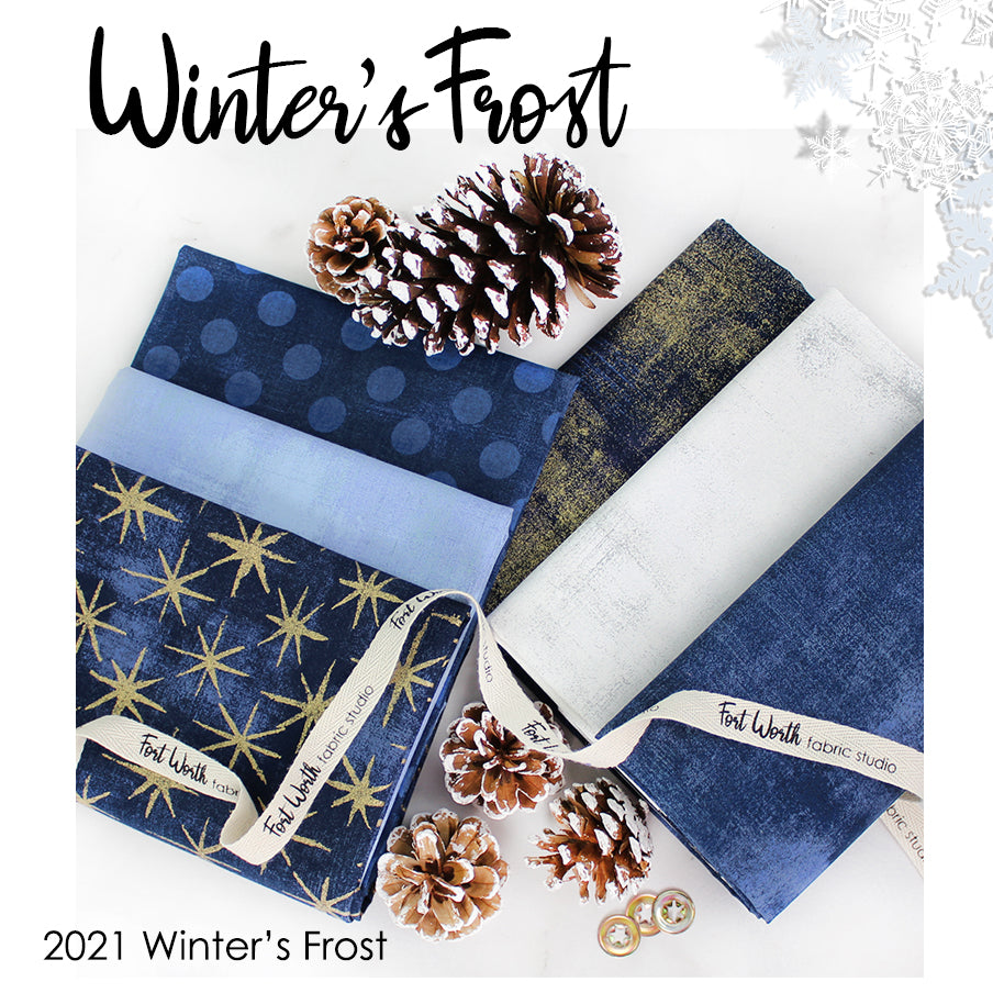 2021 Winter's Frost Mystery Quilt Kit from Fort Worth Fabric Studio