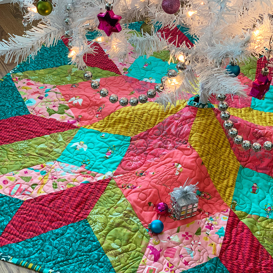 Polar Star Tree Skirt Quilt Pattern PDF Download