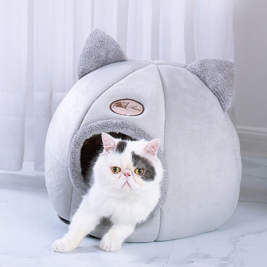 Pet Dog Cat Tent House Kennel Winter Warm Nest Soft Foldable Sleeping Pad Animal Puppy Cave Sleeping Mat Nest Kennel Pet Supply