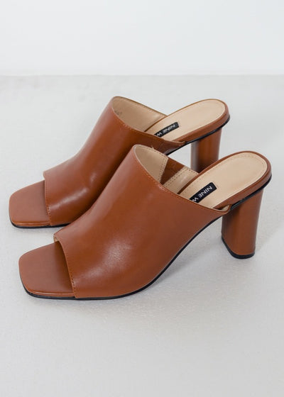 LIZA BROWN MULE SANDALS - GAYAKU ONLINE