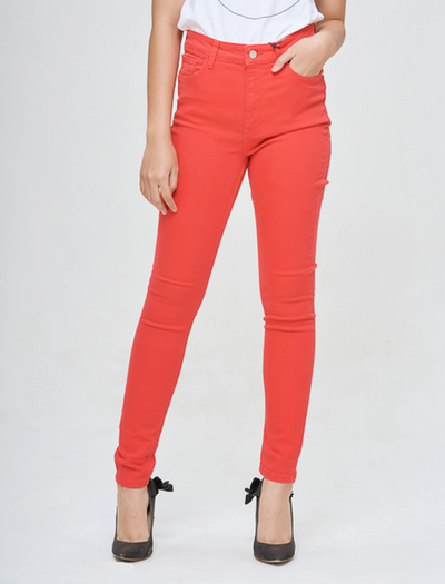HIGH WAIST IN SOHO RED JEANS, BUY RED JEANS , STYLE RED JEANS, OOTD RED JEANS, BQ COLLECTIONS