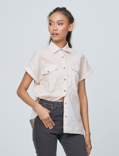 ASHLEY CREAM SHIRT - GAYAKU ONLINE