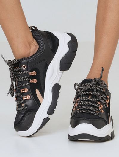 CHUNKY SKECHERS STREET AMP'D IN BLACK | BLACK SHOES | STREET SHOES | CHUNKY SHOES | SKECHERS OUTFIT | OUTFIT SKECHERS D'LITES | BLACK SHOES | BUY ONLINE SHOES | STYLE STREET SHOES | BQ COLLECTIONS | BUNIQ FASHION