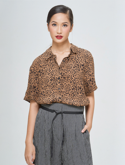 ANIMAL PRINT BELT DRESS - GAYAKU ONLINE