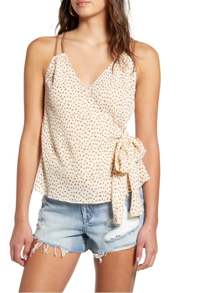 Print Wrap Camisole Top
