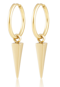 Aria Spike Hoop Earrings