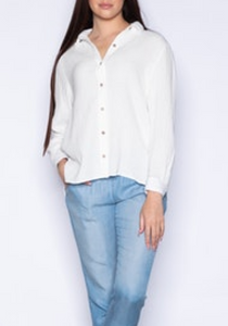 Gauzy Button Down Blouse