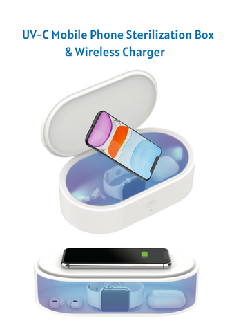 UV-C Sterilization Box and Wireless Charger for Mobile Phones and More