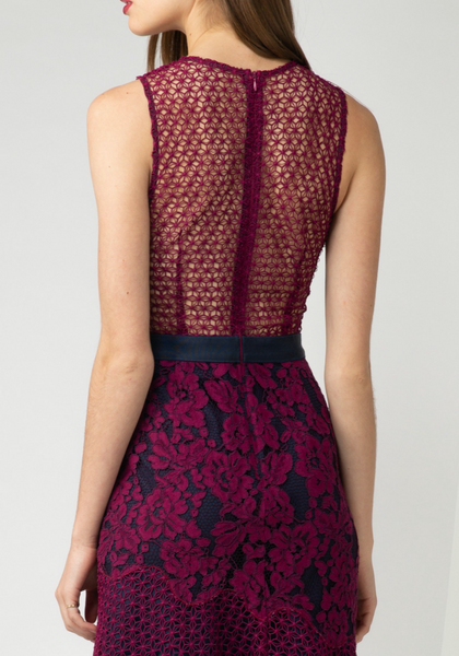 Floral Lace Cocktail Dress