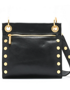 Tony Medium Crossbody Black Brushed Gold