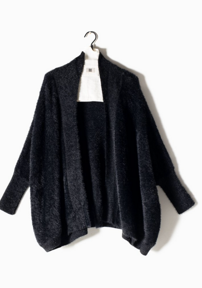 Oversized Eyelash Doman Cardigan