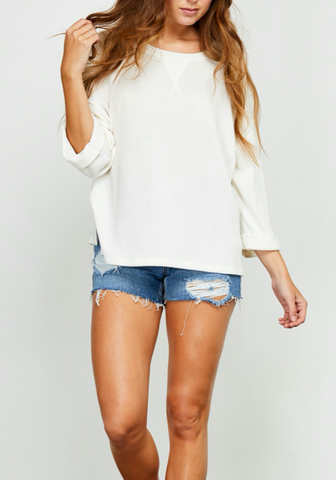 3/4 Sleeve Cozy Knit Top