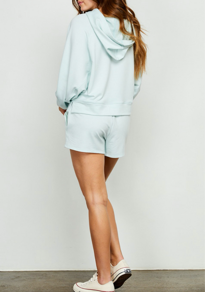 Mint Dolman Sleeve Hooded Sweatshirt