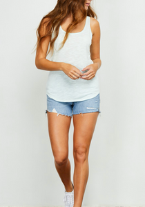 Mint U Scoop Slub Tank