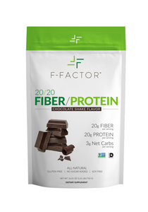 F-FACTOR 20/20 FIBER/PROTEIN POWDER – CHOCOLATE FLAVOR