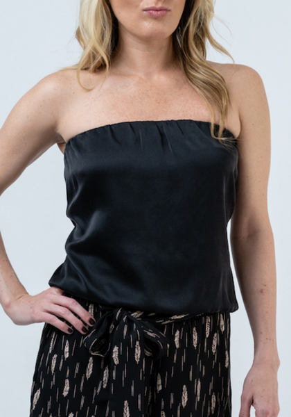 Bella Silk Strapless Blouse