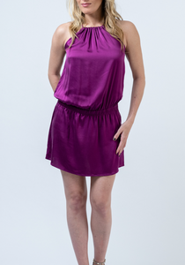 Emily Silk Halter Dress
